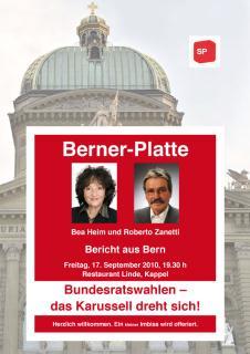 Berner-Platte: Bundesratswahlen – das Karussell dreht sich!